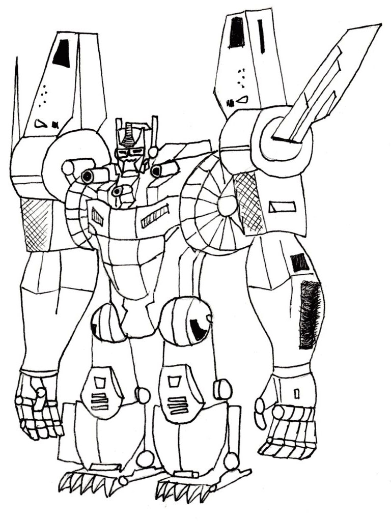 Transformers Coloring Pages Realistic
