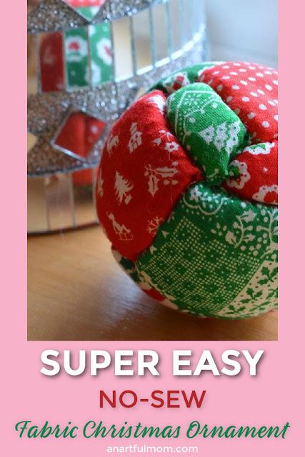 Easy No-Sew Christmas Ornament