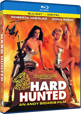 Cover art for Mill Creek's Blu-ray release of Andy Sidaris' HARD HUNTED!