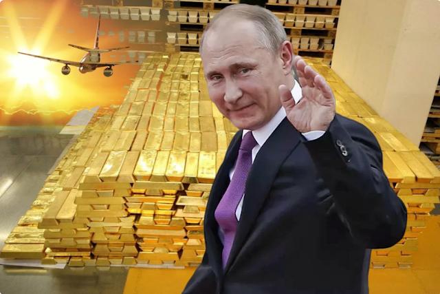 Экспорт золота из России в 2020 г. увеличился в 10 раз