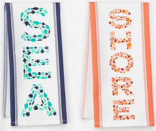Sea Shore Kitchen Towels