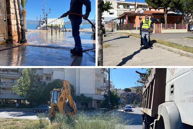 Επιχείρηση καθαριότητας σε γειτονιές του Ναυπλίου