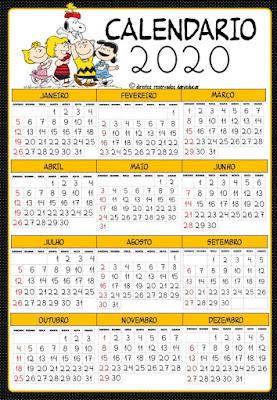 calendários, Material para professores, Danieducar,