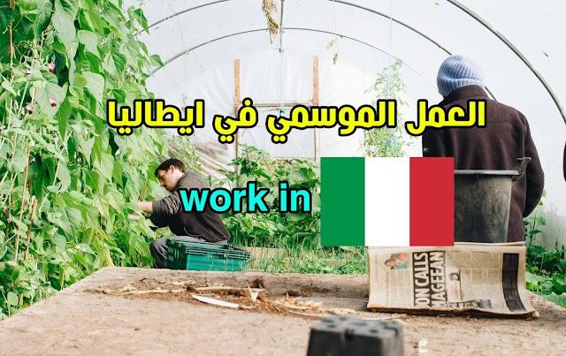 الوصول إلي إيطاليا عن طريق تأشيرة العمل الموسمي وتحويله لعمل دائم
