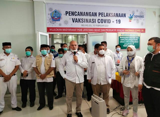 30 Pejabat  Pidie Jaya di Vaksinasi