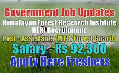 HFRI Recruitment 2020