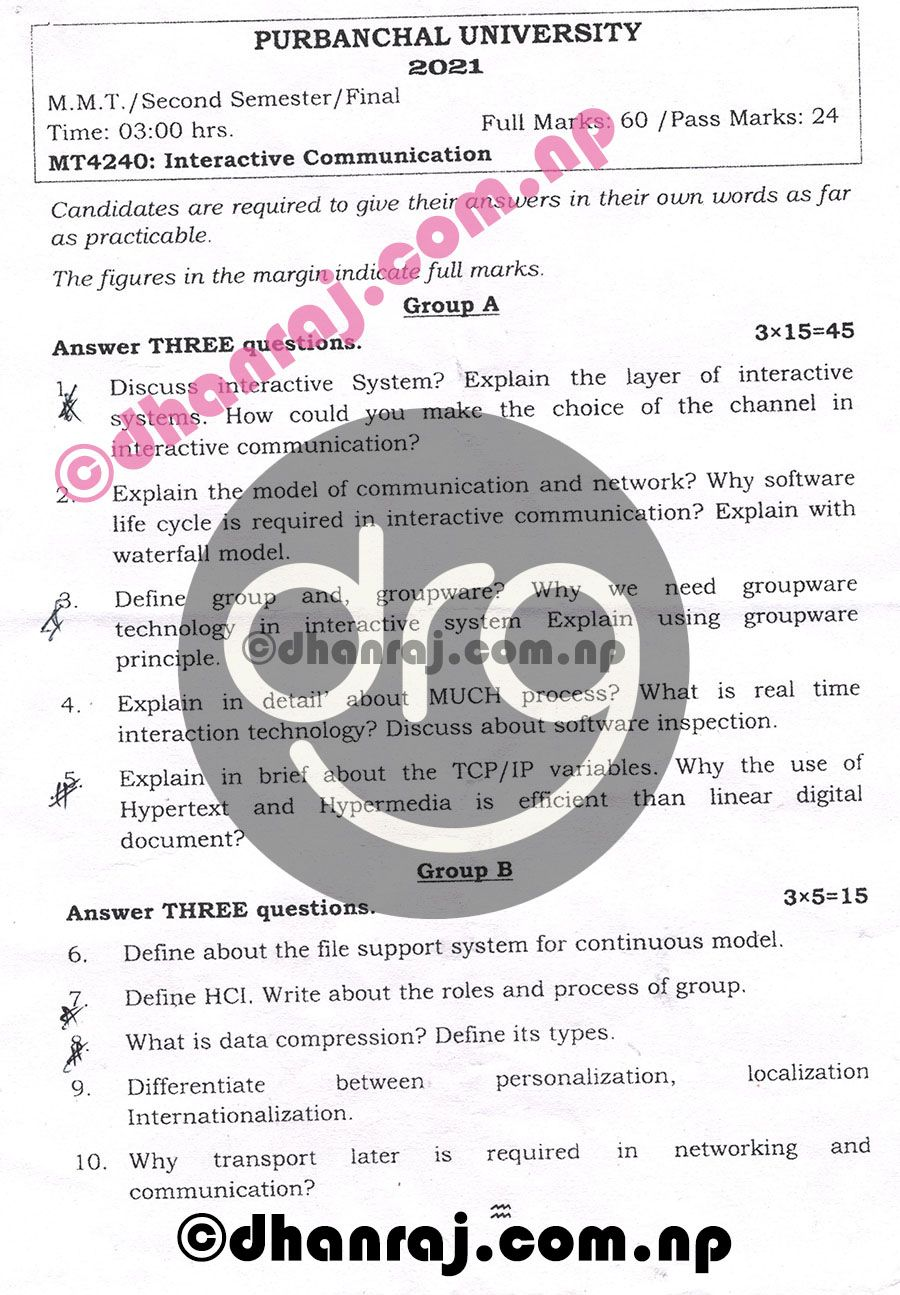 Interactive-Communication-MT4240-Exam-Question-Paper-2078-2021-Purbanchal-University