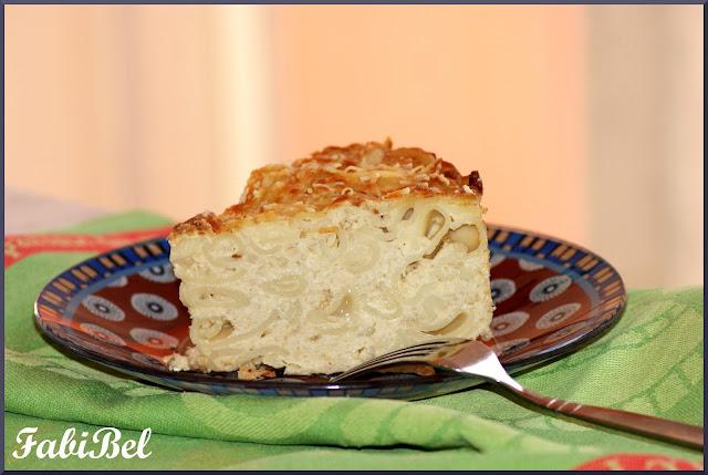 Gâteau de chou-fleur aux pâtes
