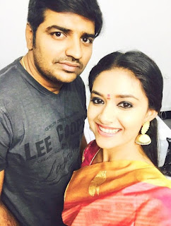 Sathish Wishing a Very Happy Birthday to Keerthy Suresh
