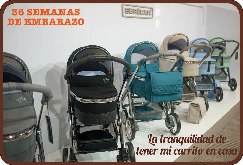 36 semanas de embarazo con el carrito para tu bebé en casa