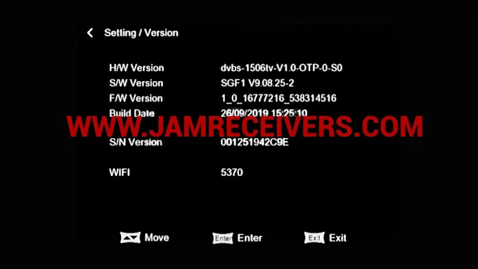 1506TV SGF1 BOARD TYPE LATEST SOFTWARE SEPTEMBER 2019 BY JAM RECEIVERS