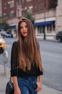 Balayage en cabello oscuro