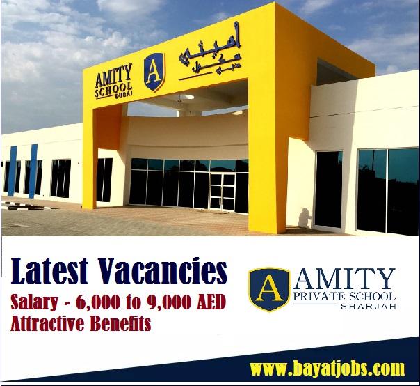 Amity Private School Hiring Teachers In Sharjah 2020