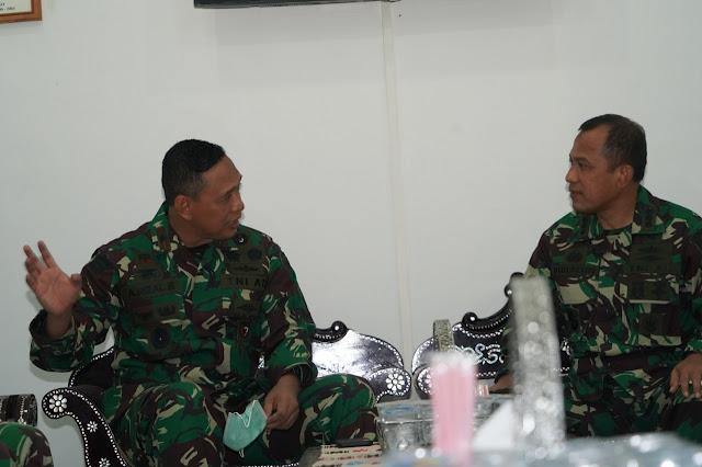 Danrem 162/WB Terima Kunjungan Pejabat Baru Danlanal Mataram