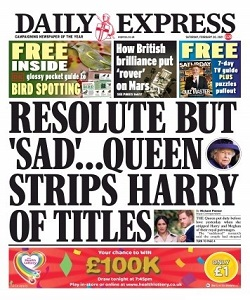Daily Express 20 February 2021