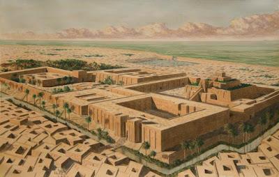 Storia dell'arte la mezzaluna fertile i sumeri ricostruzione grafica di Ur bassa mesopotamia