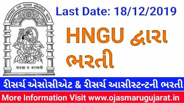 HNGU Patan Research Associate and Research Assistant Requirement 2019