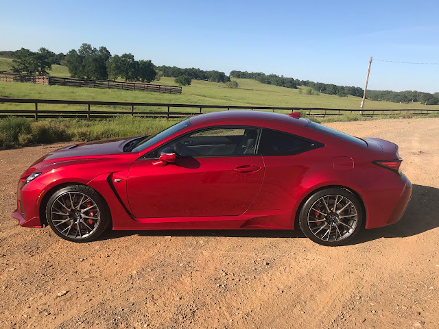 Side view of 2020 Lexus RC-F