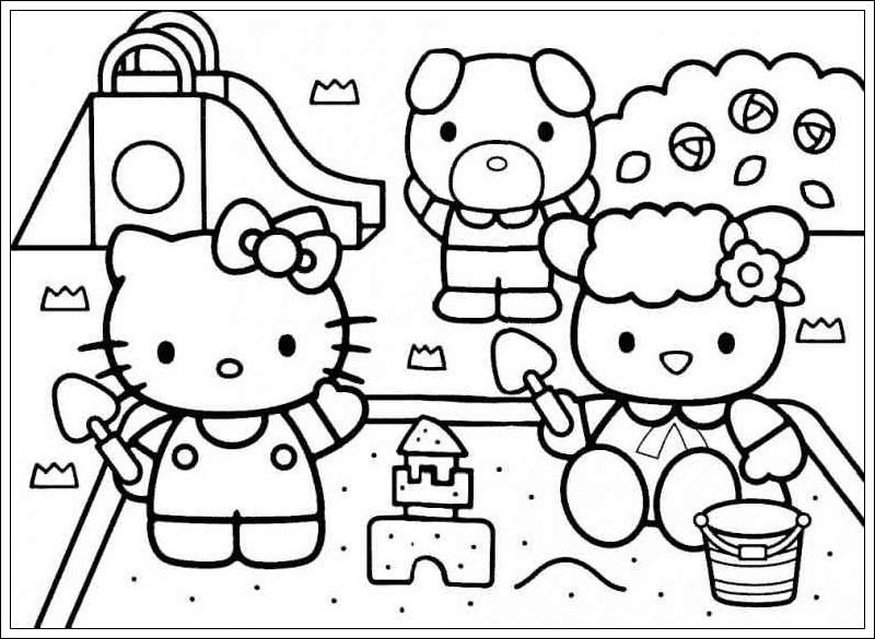 Ausmalbilder zum Ausdrucken Ausmalbilder von Hello Kitty zum