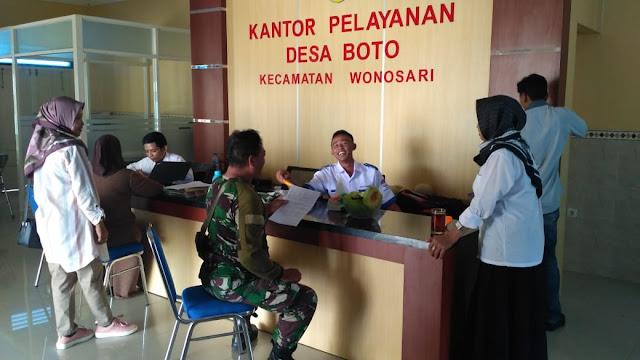 Babinsa Wonosari Jalin Silaturahmi Dengan Aparat Pemerintah Desa