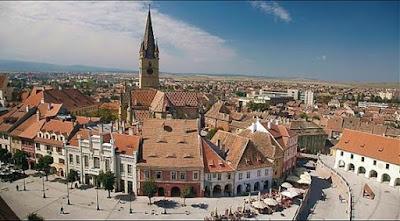 Sibiu - Din Piața Mică spre Piața Albert Huet