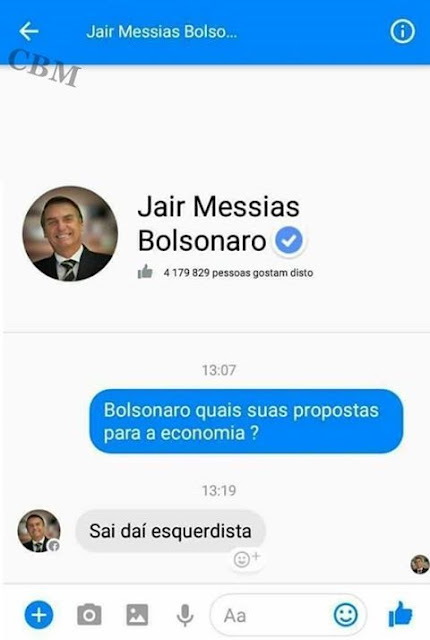 Imagens zuando o Bolsonaro