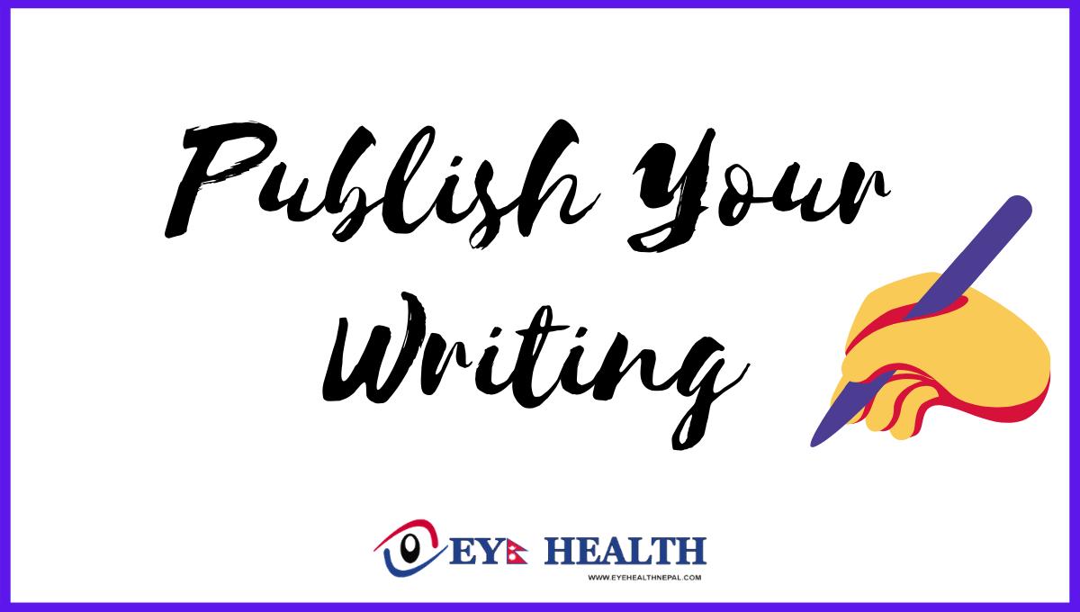 Earn money with Writing eye health articles