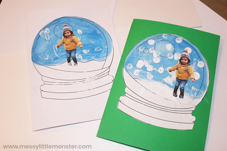 Snow globe template snow craft for kids