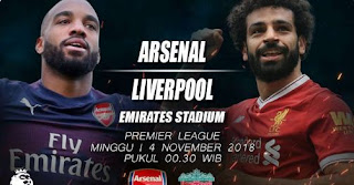 Susunan Pemain Arsenal vs Liverpool