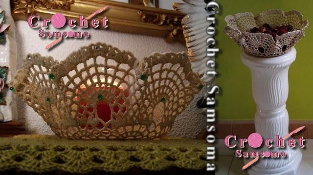 طريقة تحويل اي مفرش كروشيه لسلة  diy .  diy How to Crochet a Basket .  DIY CROCHET. How to Crochet a Basket   تحويل مفرش كروشيه إلى سلّة  . كروشيه باسكت . كروشيه سلة . . طريقة عمل سلة كروشيه .