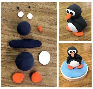 pinguino de plastilina