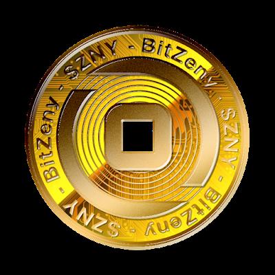 暗号通貨ビットゼニー新ロゴのフリー素材(金貨ver)
