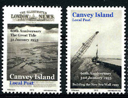 Canvey Local Post 1953 Flood Stamps