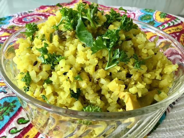 spiced cauliflower rice