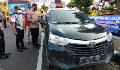 Masuk Purbalingga Kendaraan Dengan Plat Nomor Luar Daerah Diberhentikan