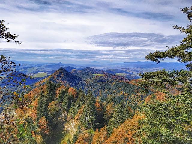 Pieniny w październiku, Babia Góra, panorama gór