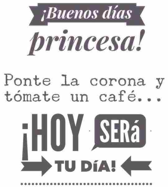 Despierta princesa, que hoy es tu día