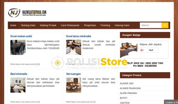 Najwa Jati Jepara - Verifikasi Toko Online Aman dan Terpercaya - Polisi Store