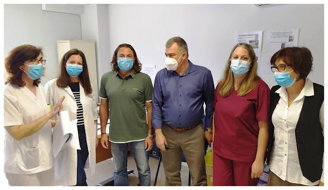 Επίσκεψη του Ανδρέα Πουλά  στα Κέντρα Υγείας Ναυπλίου και Λυγουριού