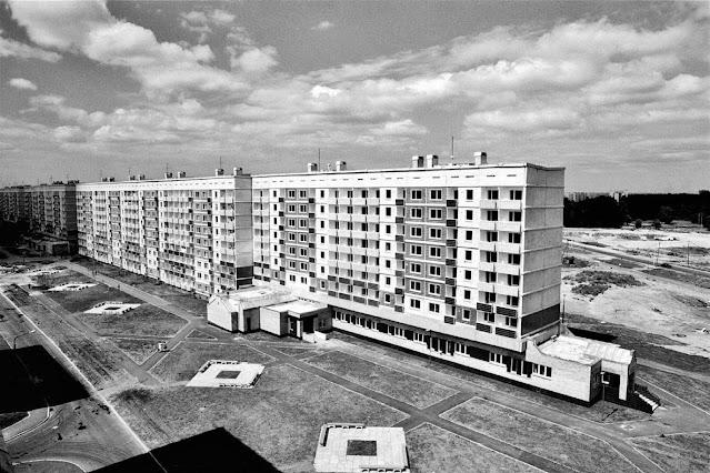 1980-е годы. Рига. Новостройки в жилом районе Золитуде