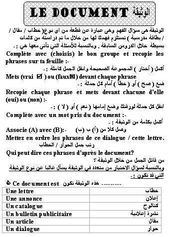 مراجعة ليلة الامتحان اللغه الفرنسية للصف الأول الثانوى الترم الأول والثاني 2020