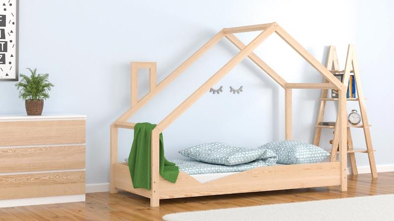 Cama de madera baja tipo Montessori