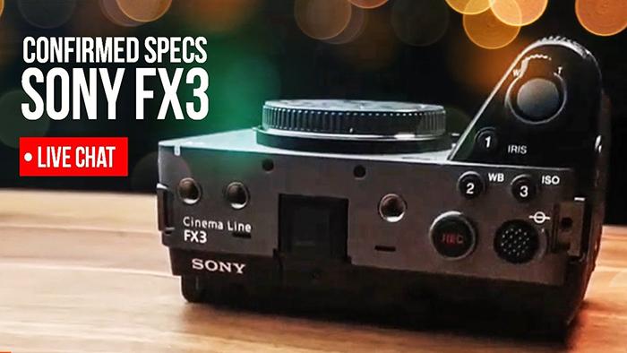 Sony FX3, вид сверху