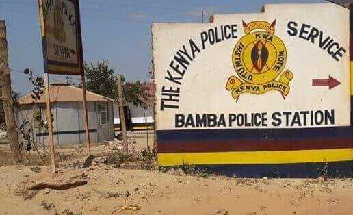 Bamba Police station where the 17 years old girl was raped and murdered inside Police cells. PHOTO | BMS