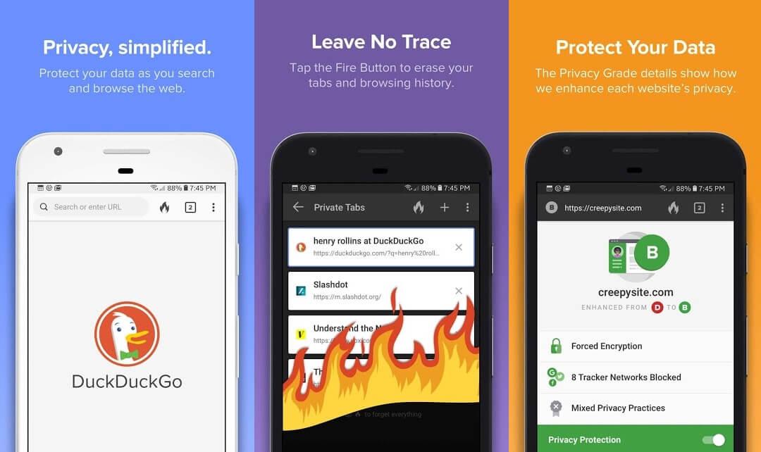 10 Aplikasi Browser Android Terbaik - DuckDuckGo