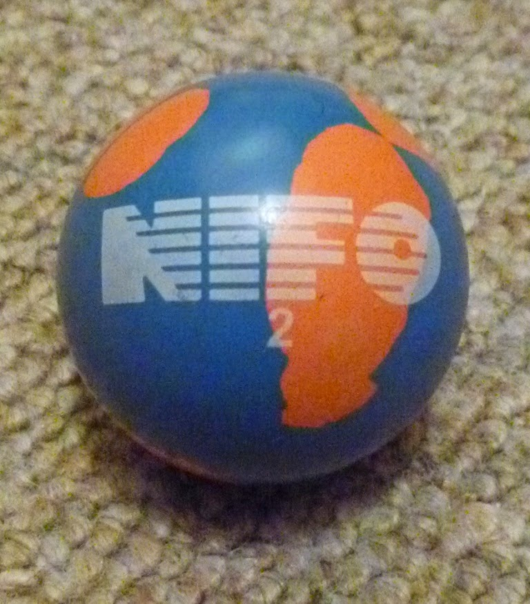 A NIFO 2 minigolf sport ball - a great ball to use on many minigolf lanes (holes). Made by NIFO