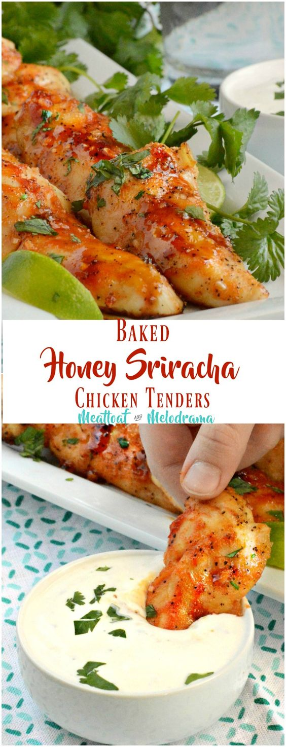 Baked Honey Sriracha Chicken Tenders