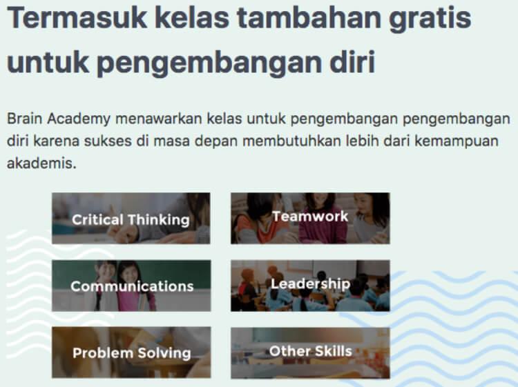 kelas pengembangan diri brain academy