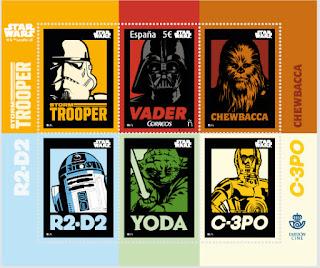 Hoja de sellos de cine dedica a Star Wars